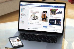 Facebook social media Design for Digital Howard Adair