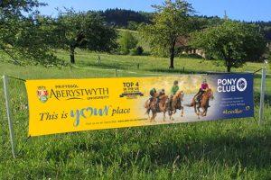 Pony Club banner Design for Print Howard Adair